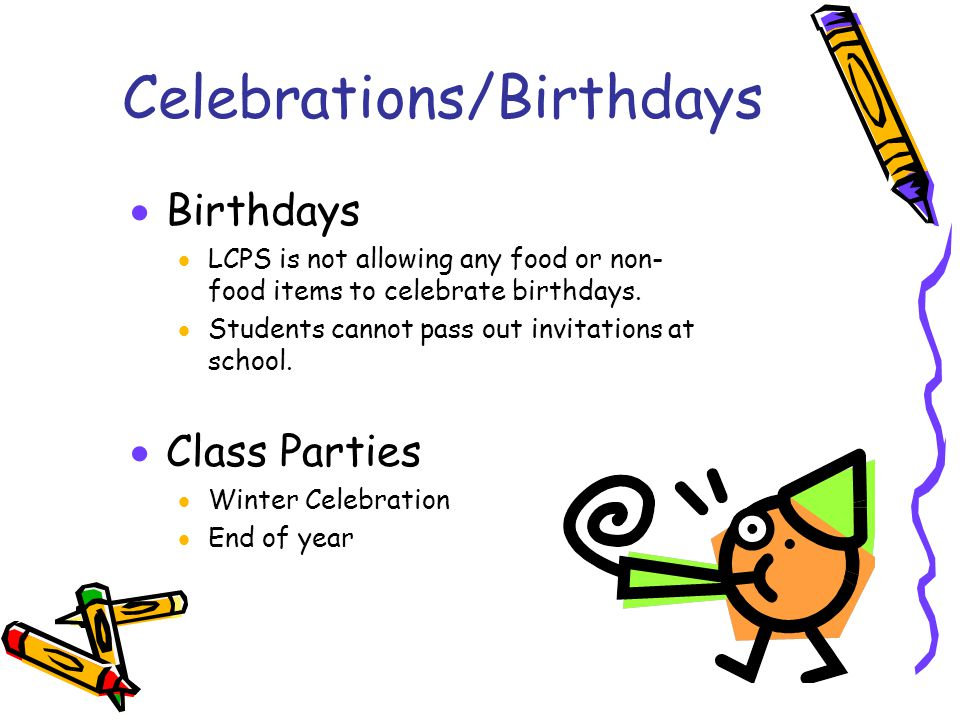Celebrations/Birthdays