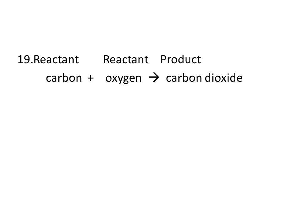 Reactant Reactant Product