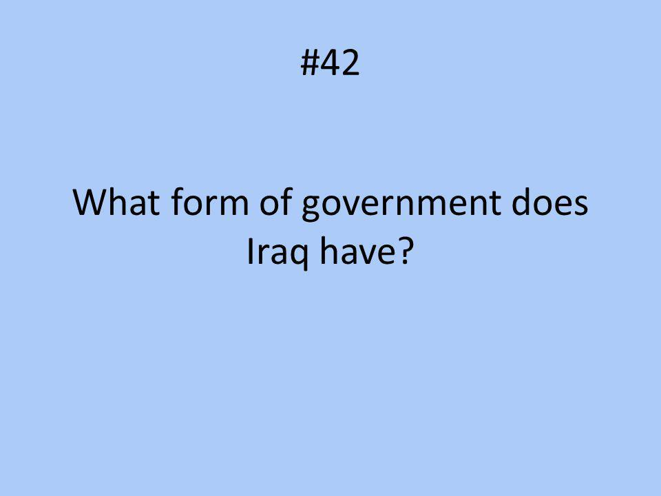 What form of government does Iraq have