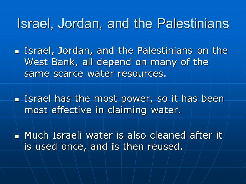 Israel, Jordan, and the Palestinians