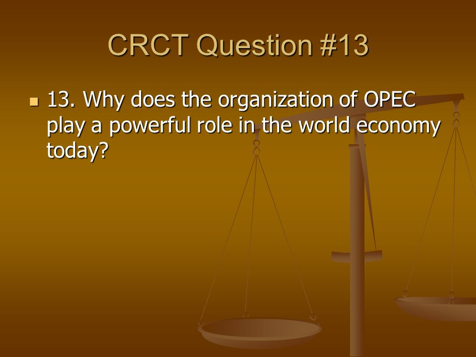 CRCT Question #13 13.