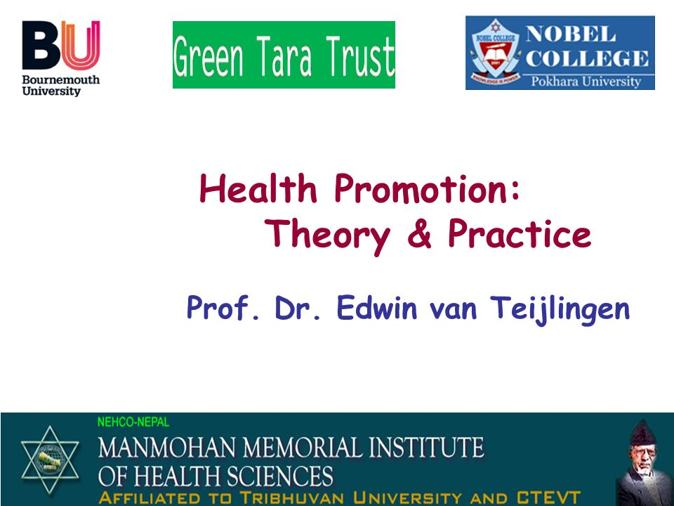 Health Promotion: Theory & Practice