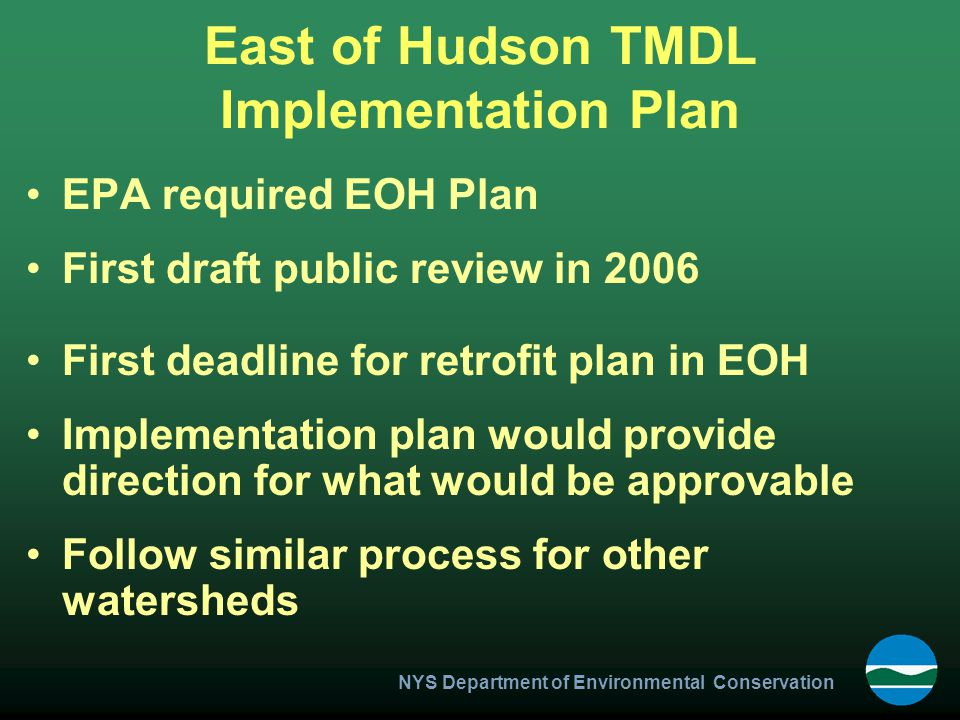 East of Hudson TMDL Implementation Plan