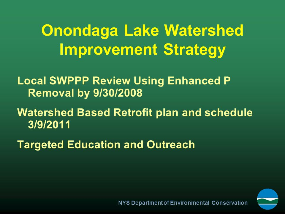 Onondaga Lake Watershed Improvement Strategy