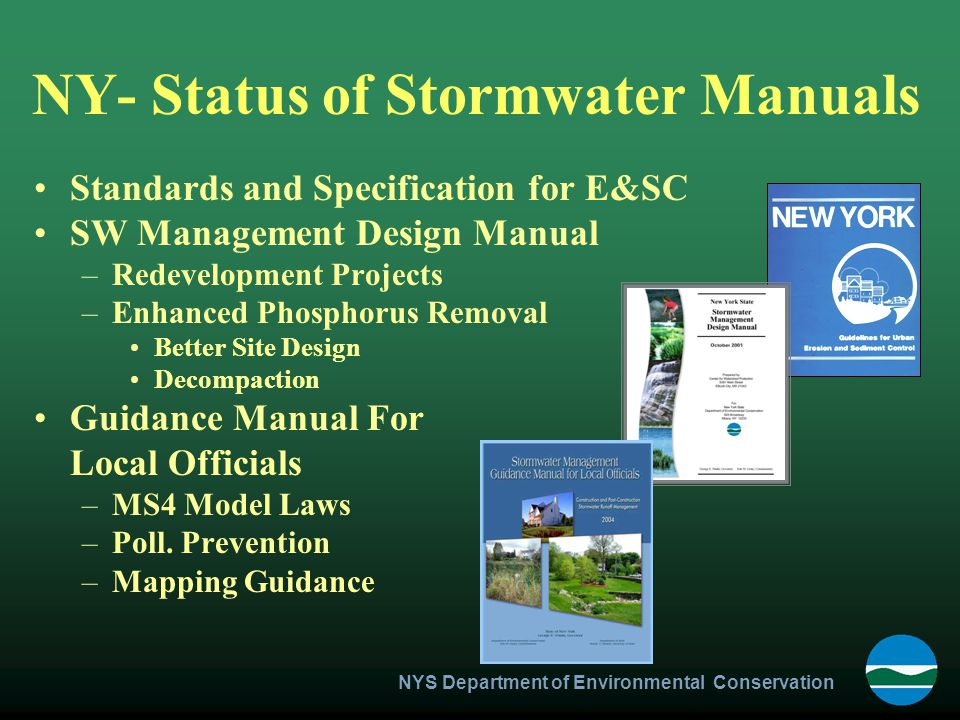 NY- Status of Stormwater Manuals