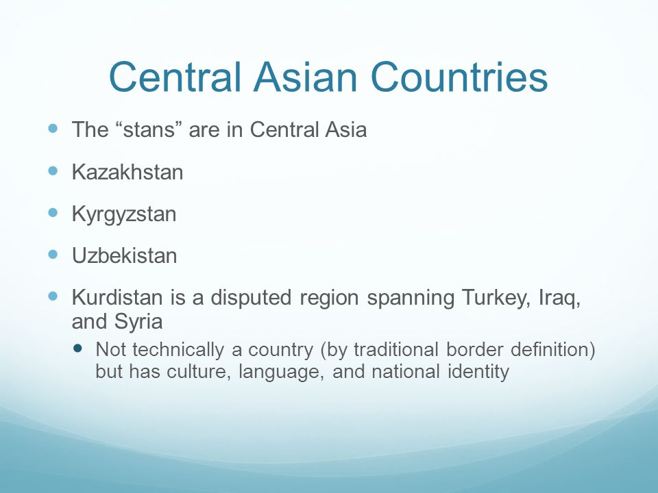 Central Asian Countries