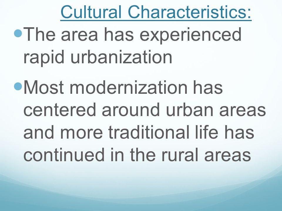 Cultural Characteristics:
