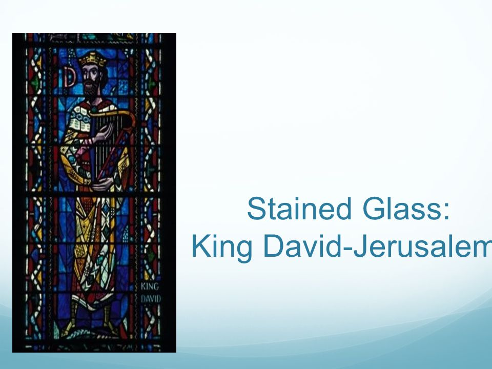 Stained Glass: King David-Jerusalem.