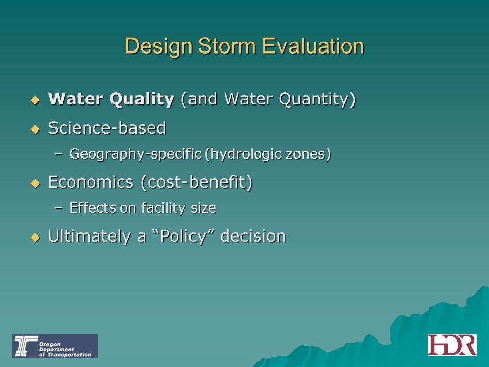 Design Storm Evaluation