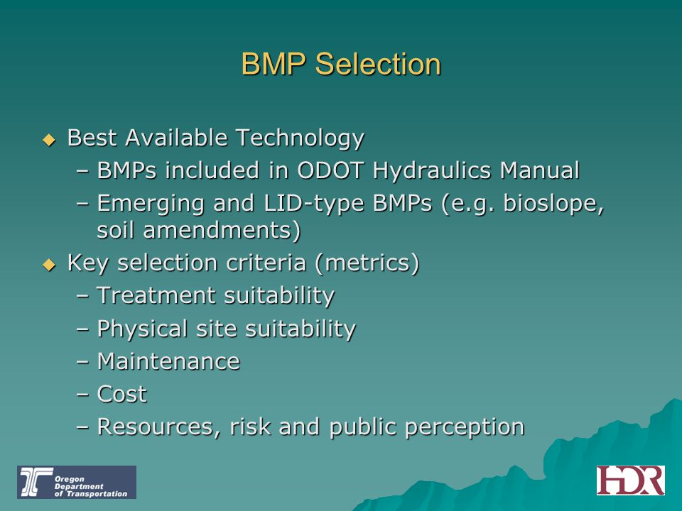 BMP Selection Best Available Technology