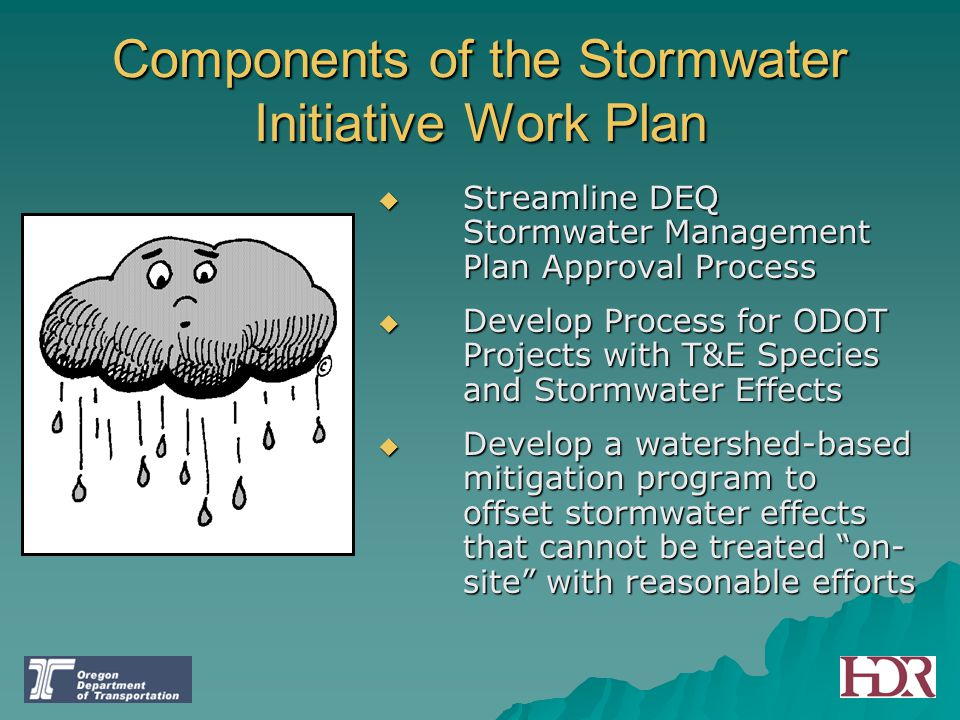 Components of the Stormwater Initiative Work Plan