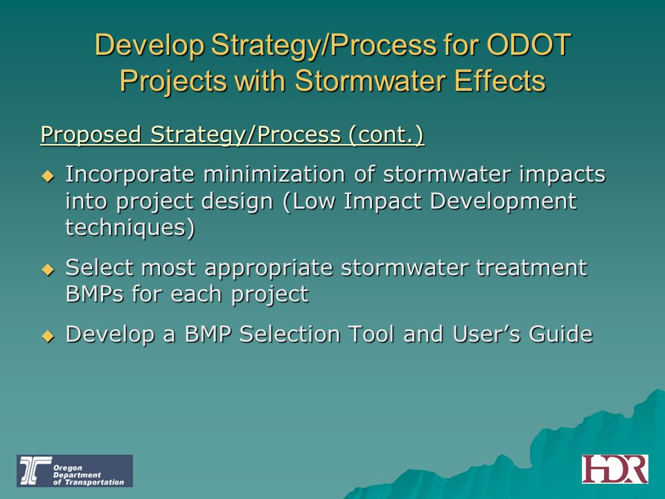 Develop Strategy/Process for ODOT Projects with Stormwater Effects