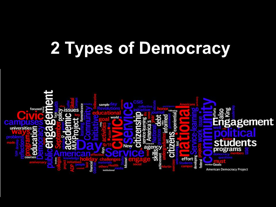 2 Types of Democracy