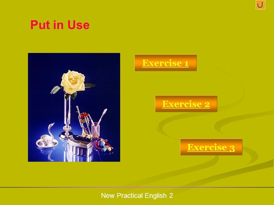 Put in Use Put in Use Exercise 1 Exercise 2 Exercise 3