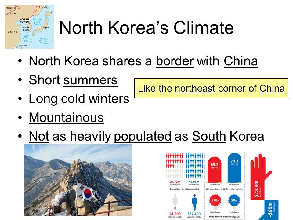 Like the northeast corner of China