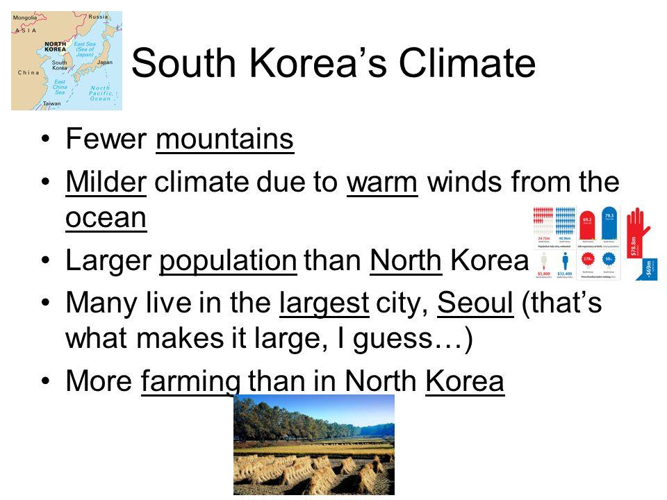 South Korea's Climate Fewer mountains