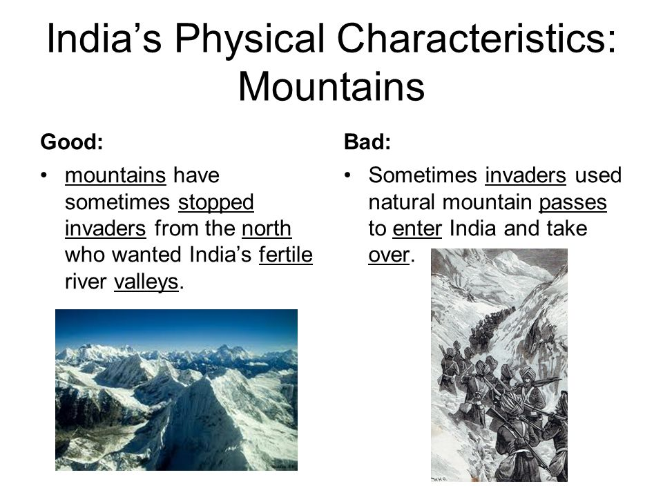 India's Physical Characteristics: Mountains