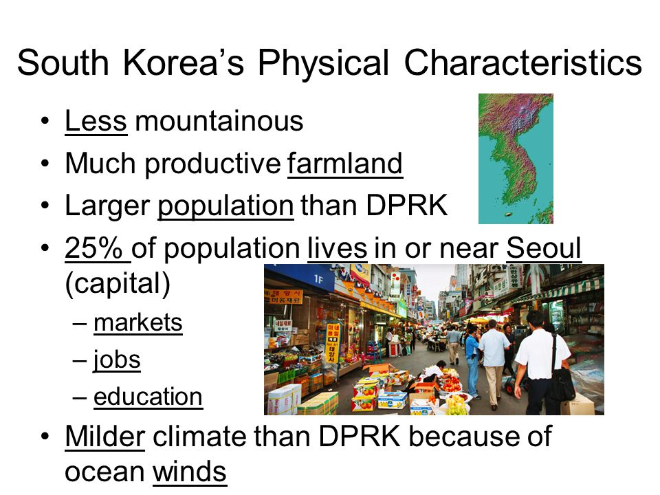 South Korea's Physical Characteristics