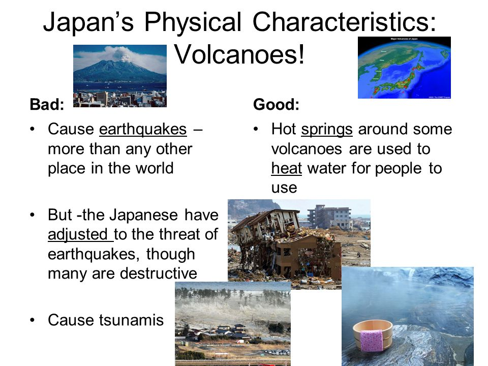 Japan's Physical Characteristics: Volcanoes!