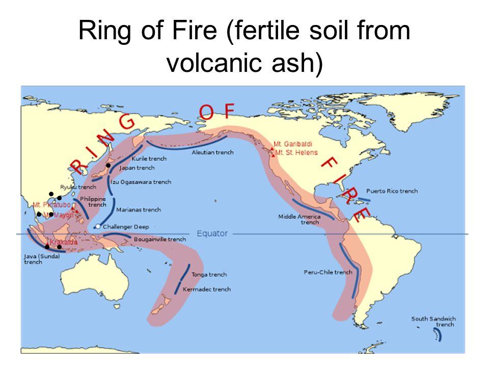Ring of Fire (fertile soil from volcanic ash)