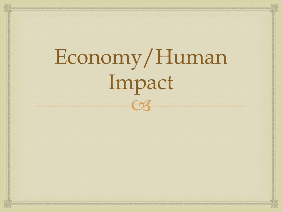 Economy/Human Impact