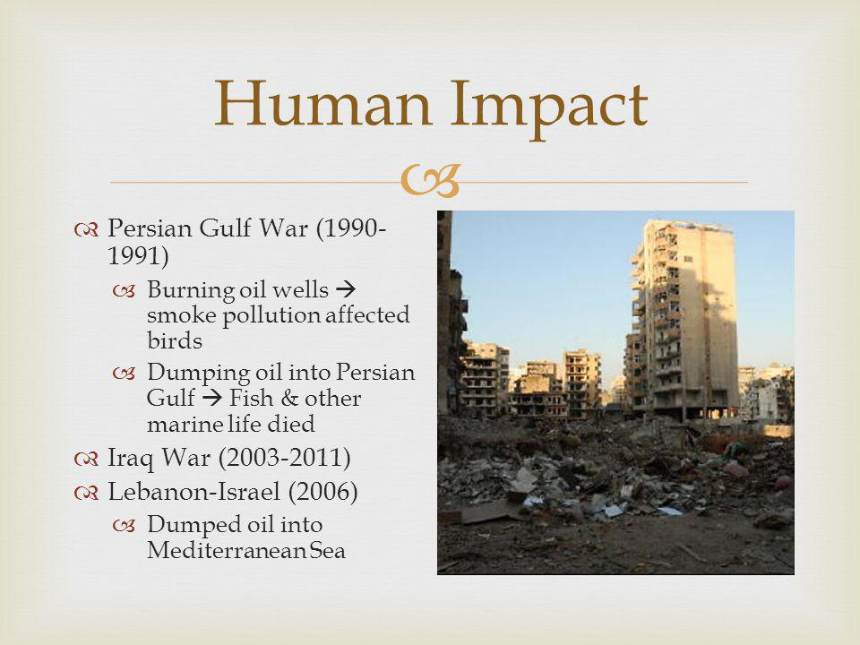 Human Impact Persian Gulf War (1990-1991) Iraq War (2003-2011)