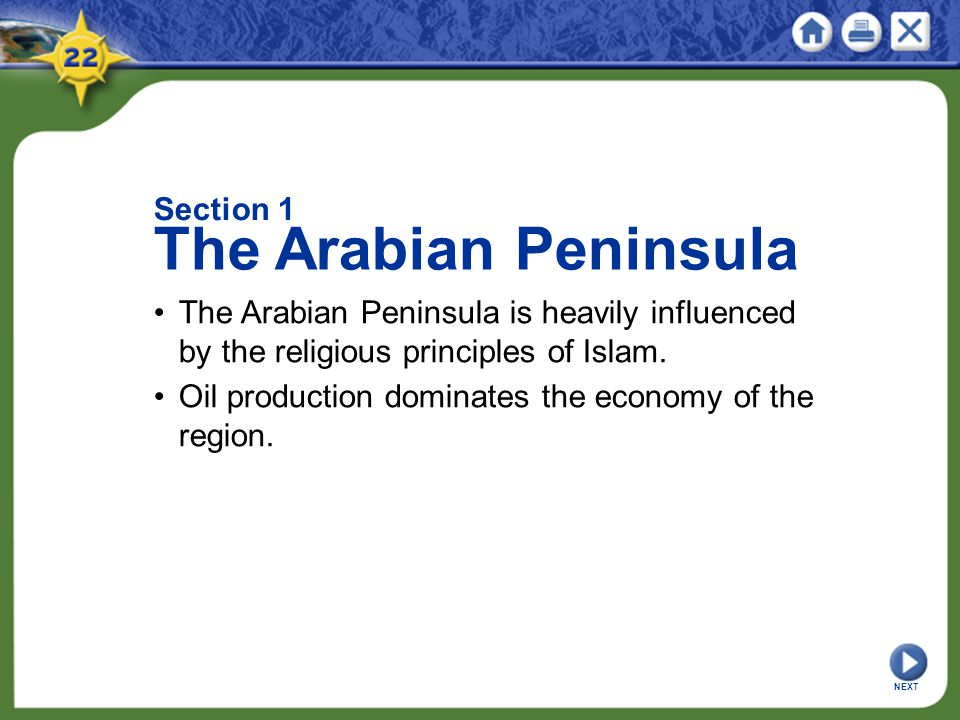 The Arabian Peninsula Section 1