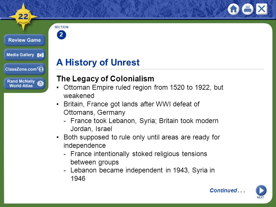 A History of Unrest The Legacy of Colonialism