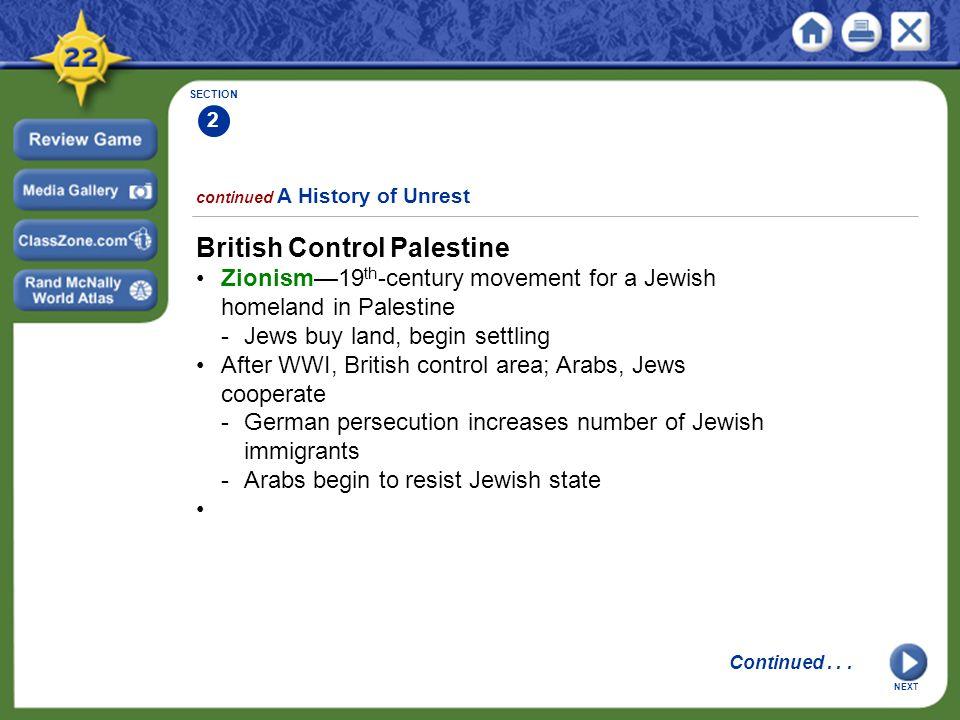 British Control Palestine