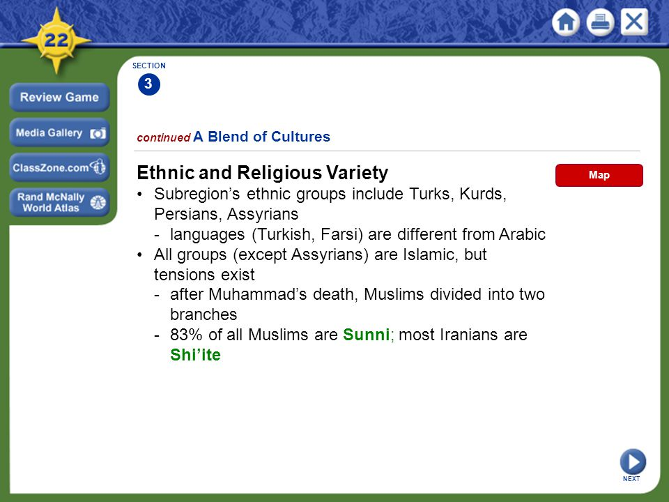 Ethnic and Religious Variety