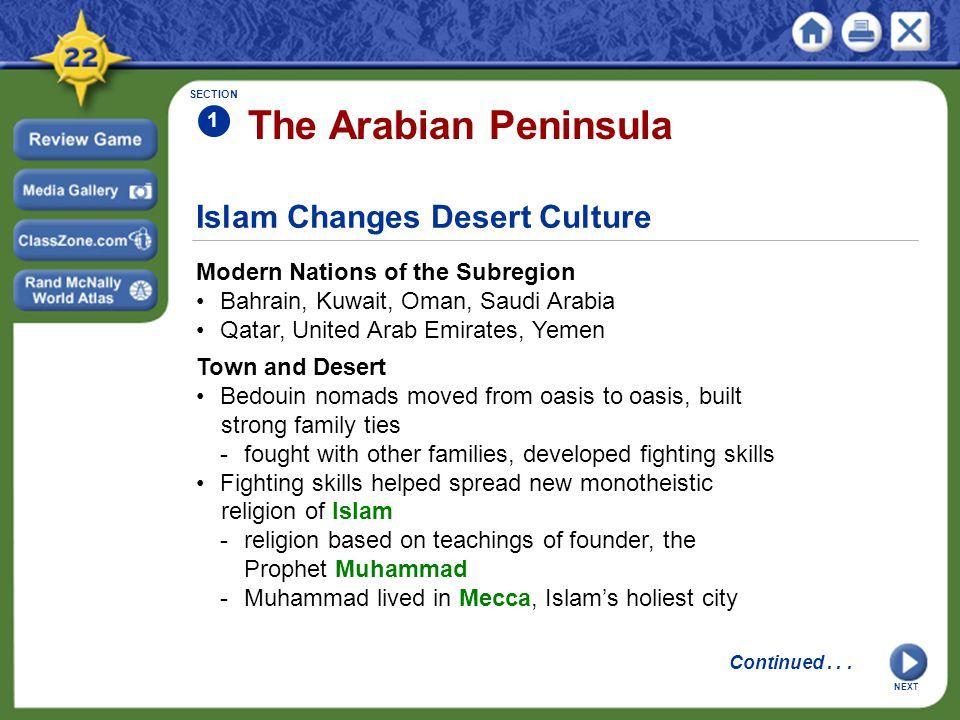 The Arabian Peninsula Islam Changes Desert Culture