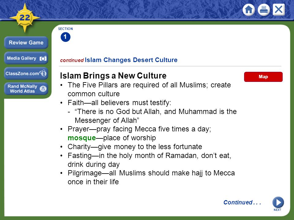 Islam Brings a New Culture
