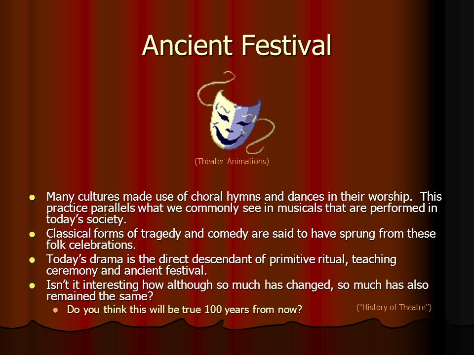 Ancient Festival (Theater Animations)
