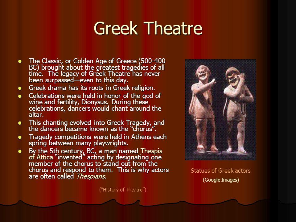 Statues of Greek actors