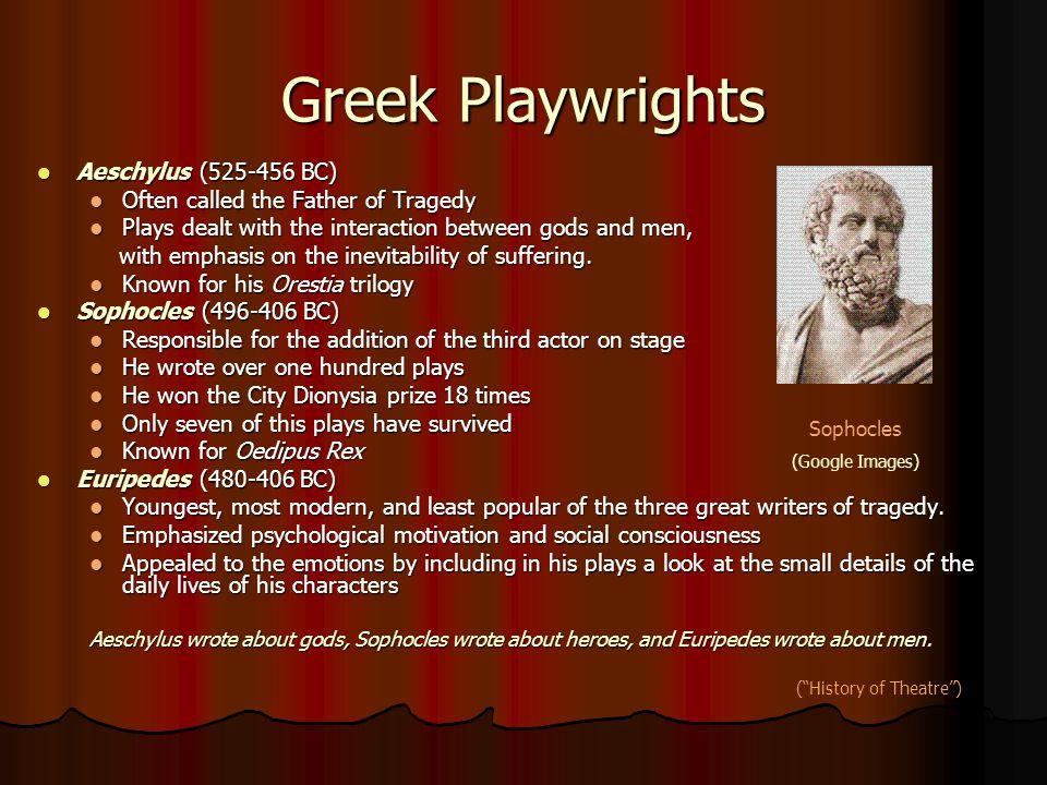 Greek Playwrights Aeschylus (525-456 BC)