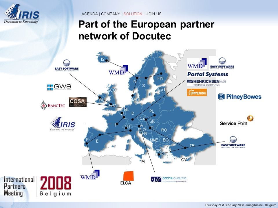 Part of the European partner network of Docutec