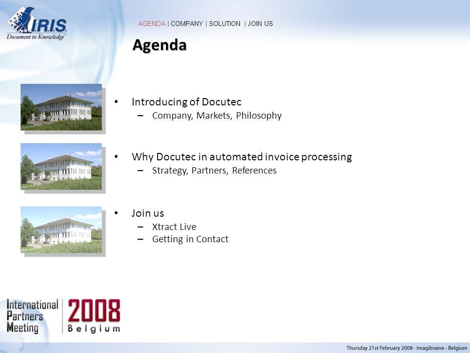 Agenda Introducing of Docutec