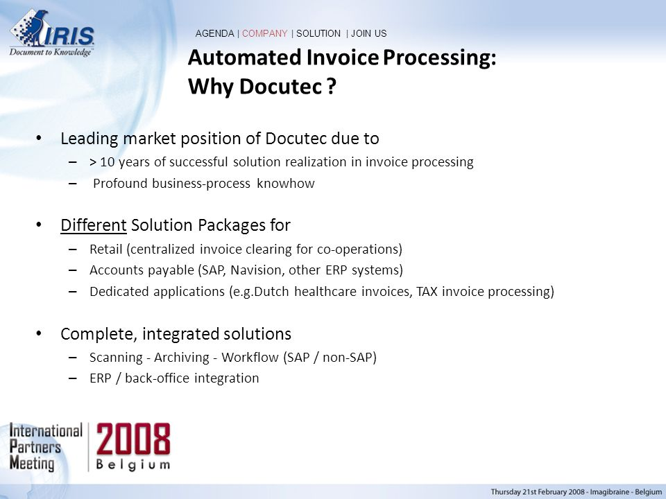 Automated Invoice Processing: Why Docutec