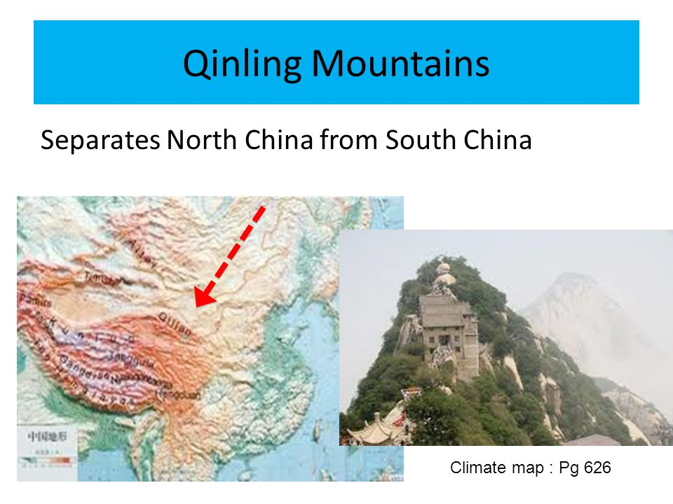 Qinling Mountains Separates North China from South China