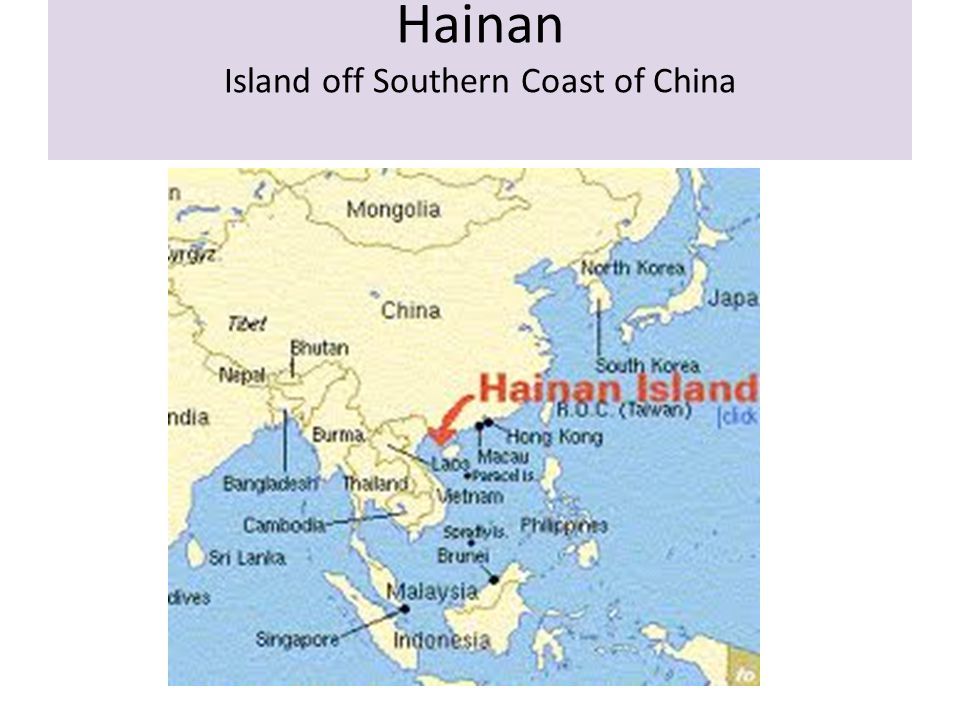 Hainan Island off Southern Coast of China