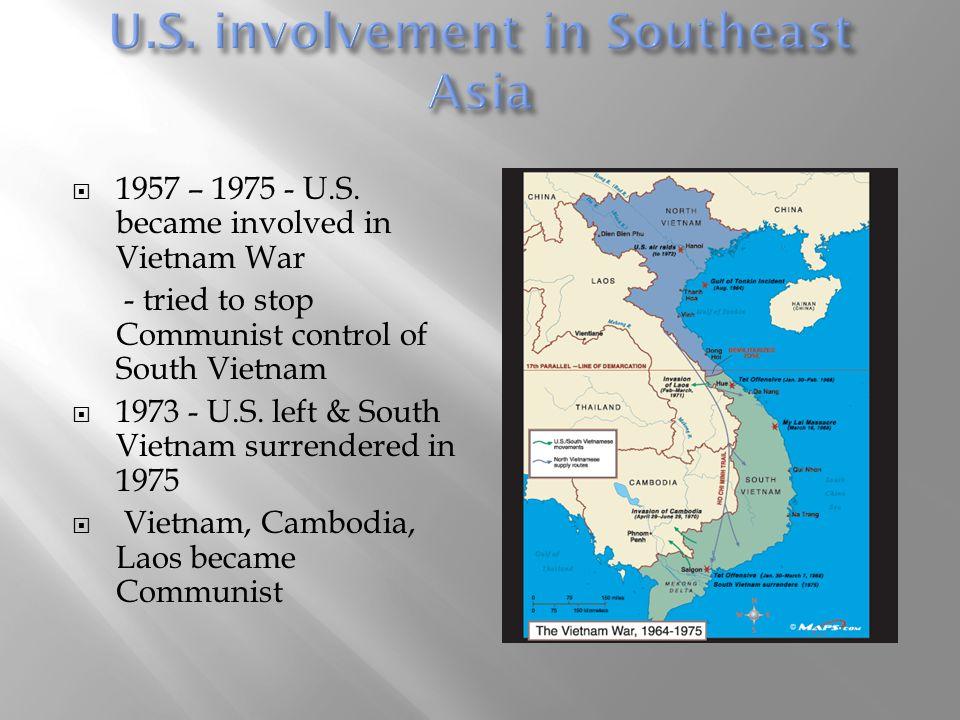 U.S. involvement in Southeast Asia