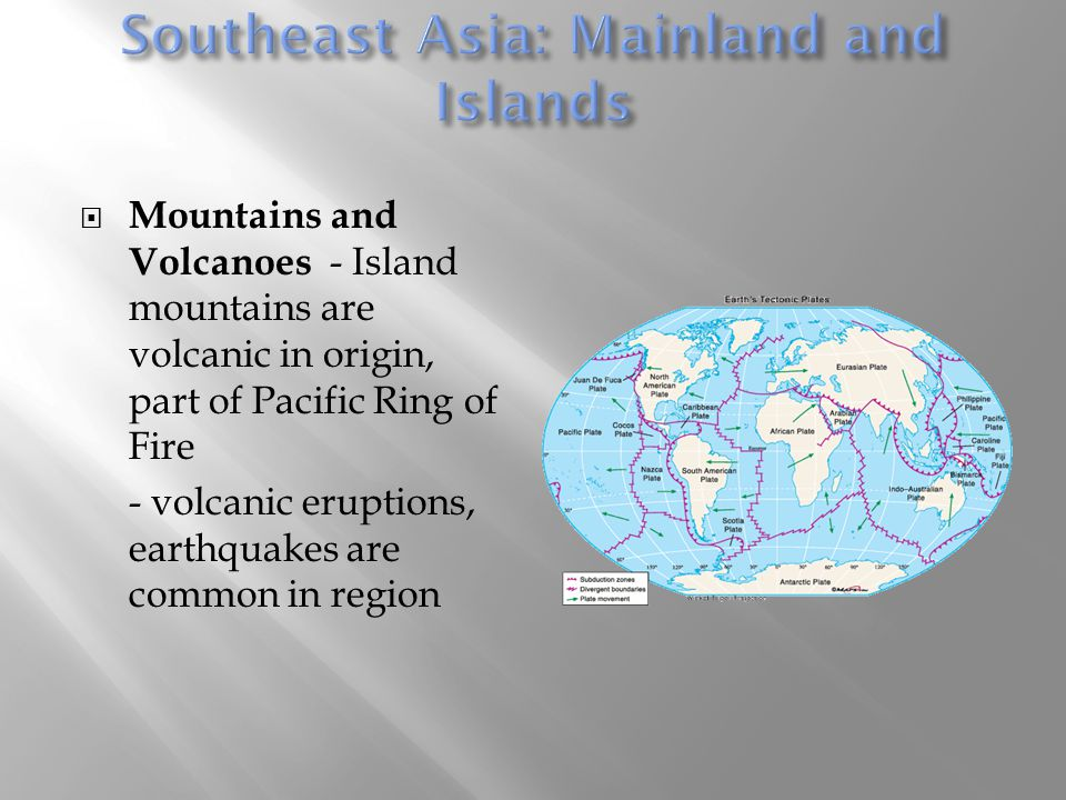 Southeast Asia: Mainland and Islands