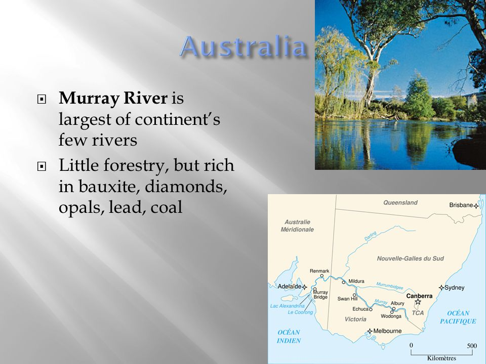 Australia Murray River is largest of continent's few rivers