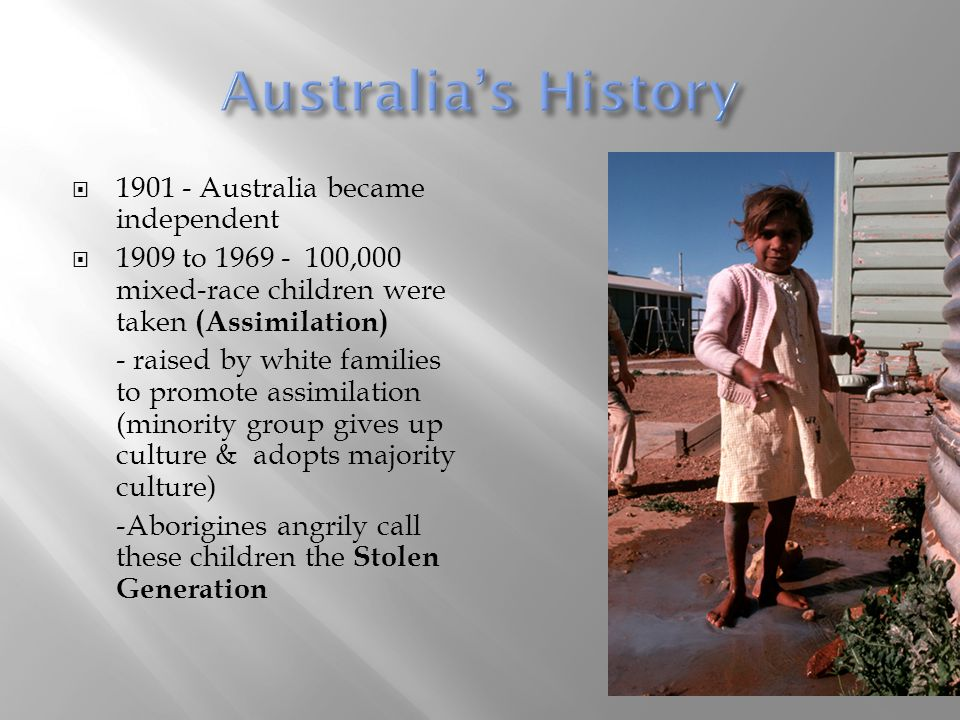 Australia's History Australia became independent
