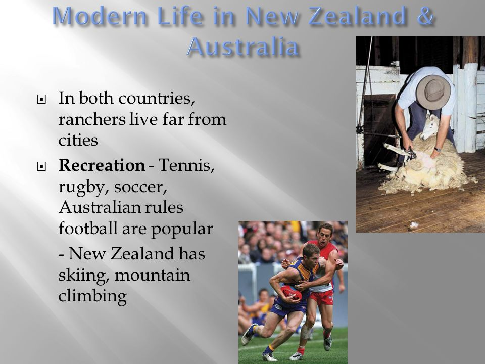 Modern Life in New Zealand & Australia