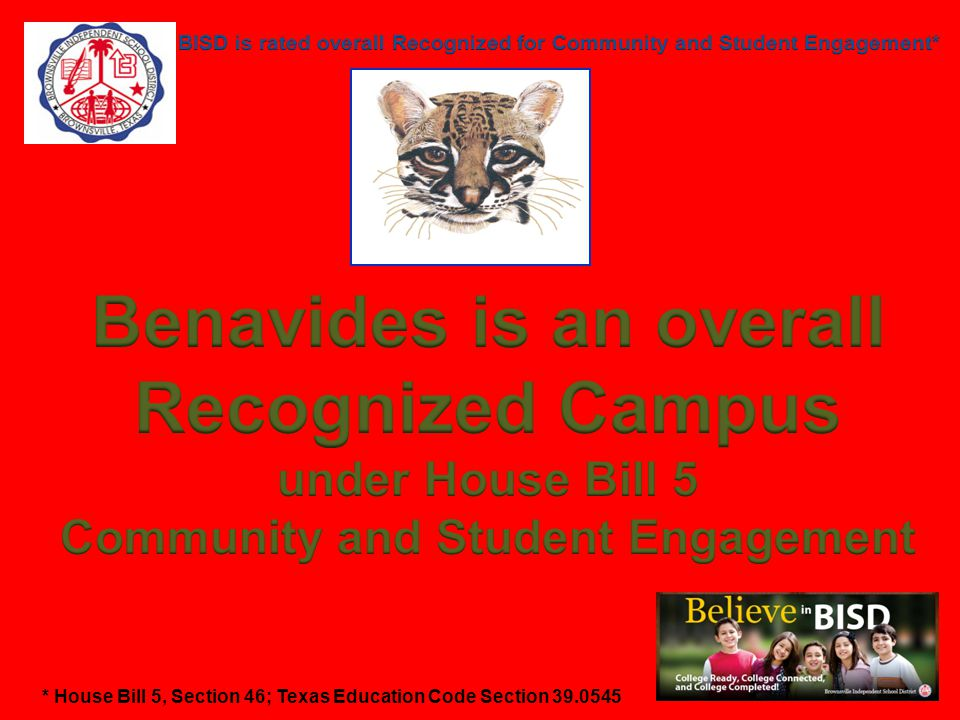 Benavides is an overall Community and Student Engagement