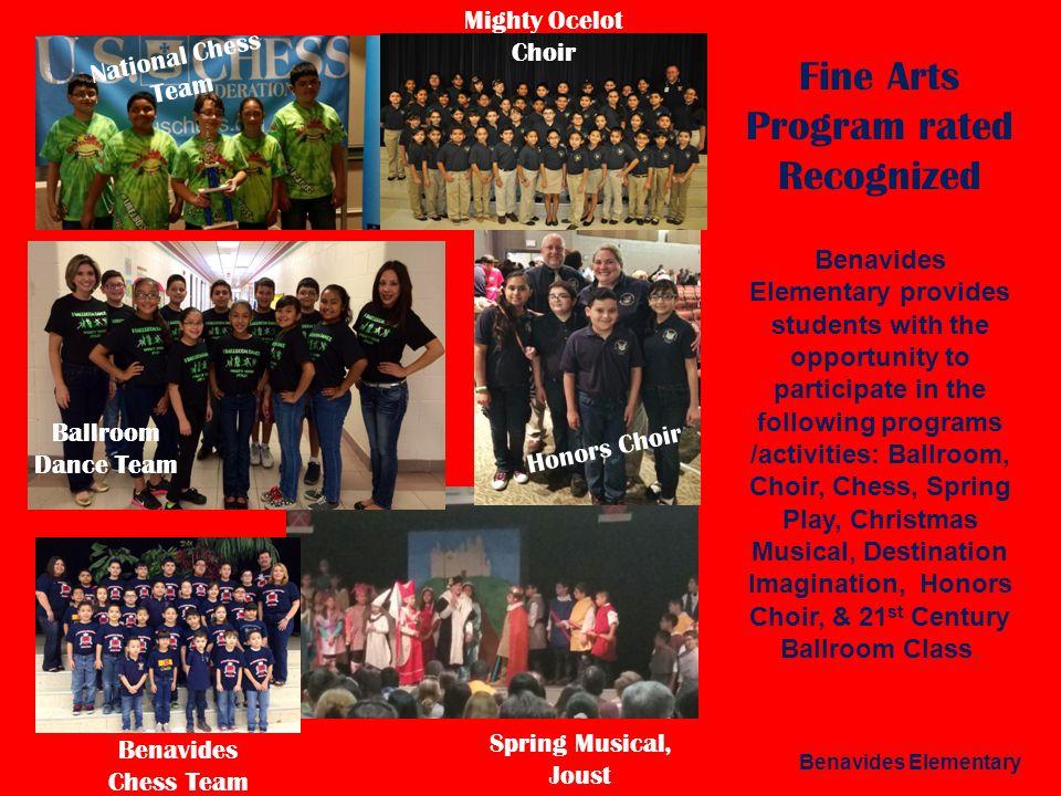 Fine Arts Program rated Recognized