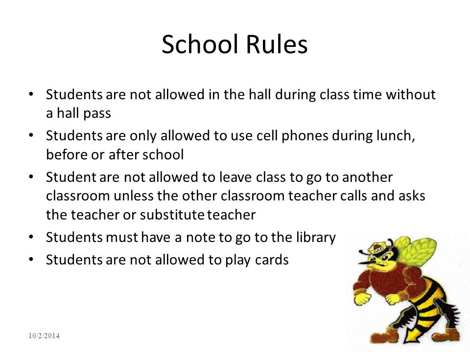 students must be allowed to use Bus rules for all students 2017-2018 all students must be at their designated stop five (5) minutes prior to the scheduled arrival time once a school bus is in motion, students will not be allowed to board the bus.