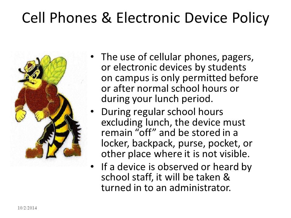 Cell Phones & Electronic Device Policy