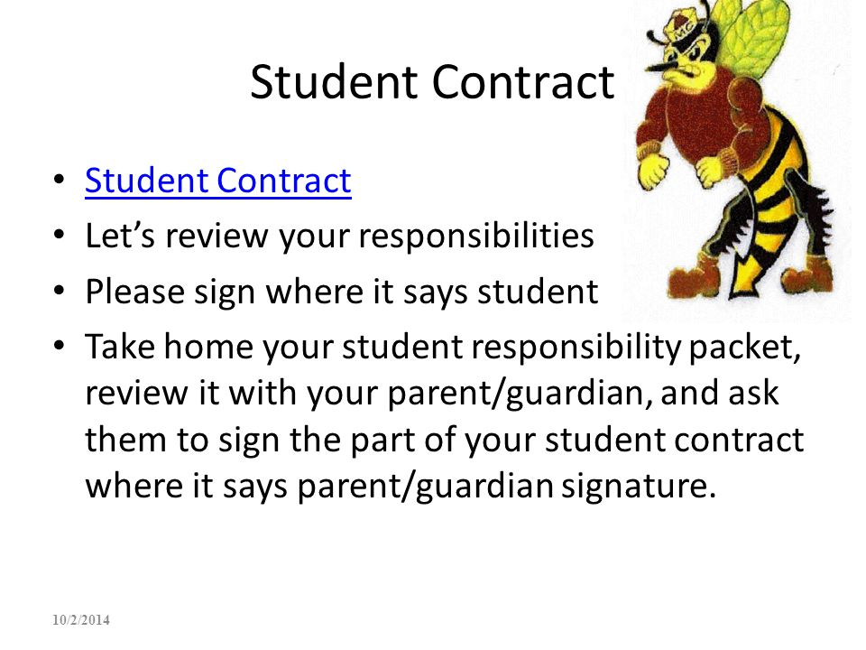Student Contract Student Contract Let's review your responsibilities